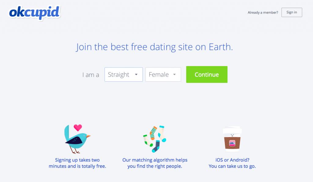 Il sito di incontri OkCupid